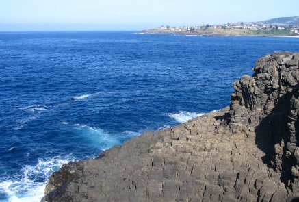 Kiama outcrop behind blowhole