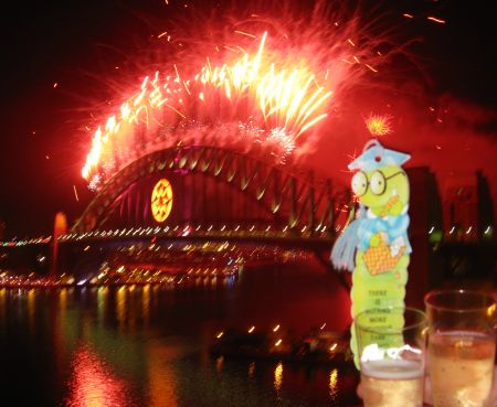 Fireworks on Sydney Harbour Bridge