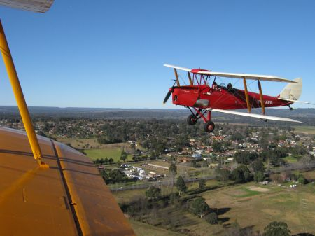 Flying in a Tiger Moth over Sydney