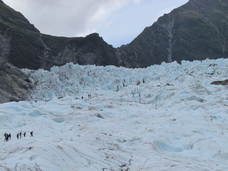 Climbing Fox Glacier in New Zealand